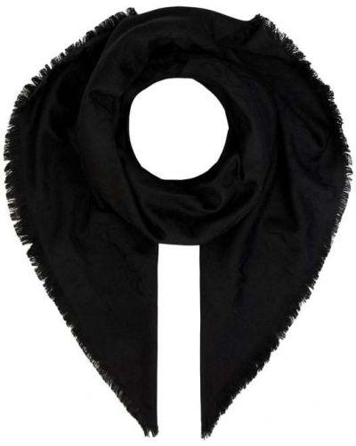 Wełniany czarny szal Ck Calvin Klein