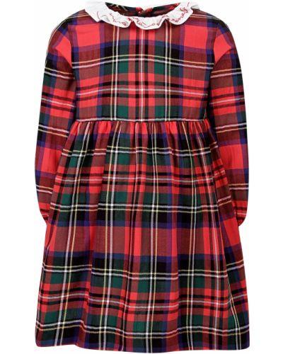 Хлопковое красное платье Il Gufo