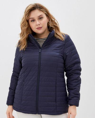 Утепленная синяя куртка Zizzi