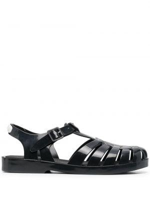 Czarne sandały z klamrą Rombaut