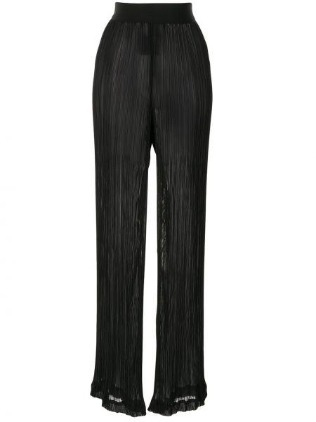 Черные брюки свободного кроя Litkovskaya