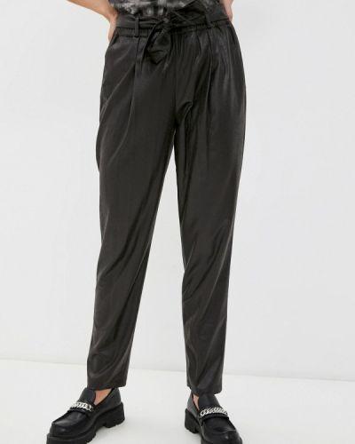 Коричневые кожаные брюки Madeleine