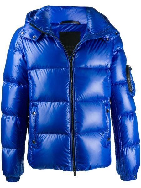 Niebieska kurtka z kapturem z nylonu Tatras