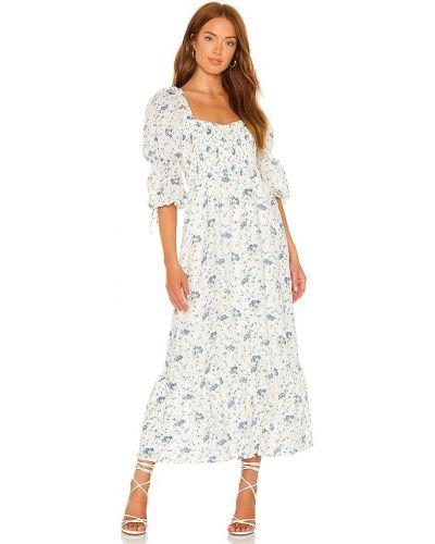 Платье миди в цветочный принт - белое Faithfull The Brand