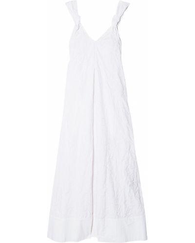 Хлопковое белое платье макси с вышивкой Elizabeth And James