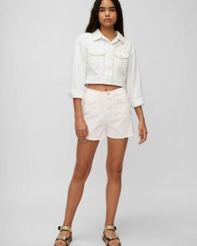Białe jeansy w paski Marc O Polo