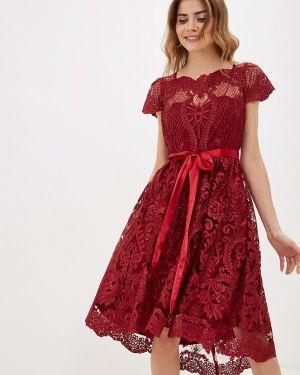 Вечернее платье осеннее красный City Goddess