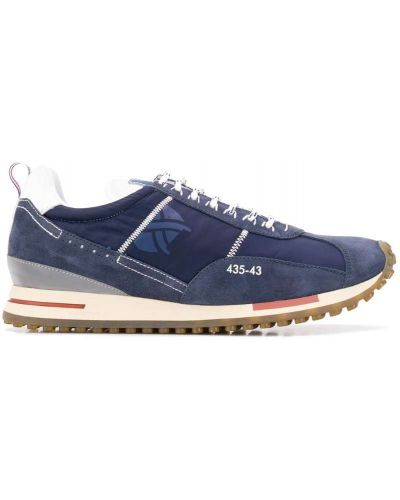 Кроссовки на шнуровке - синие Brimarts