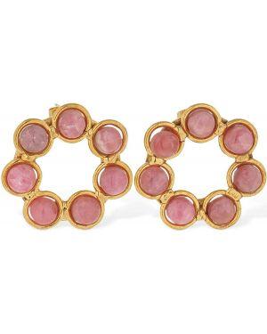 Różowe złote kolczyki sztyfty Sylvia Toledano