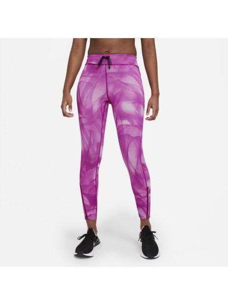 Fioletowe legginsy do biegania miejskie Nike