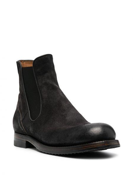 Кожаные черные ботинки челси эластичные Silvano Sassetti