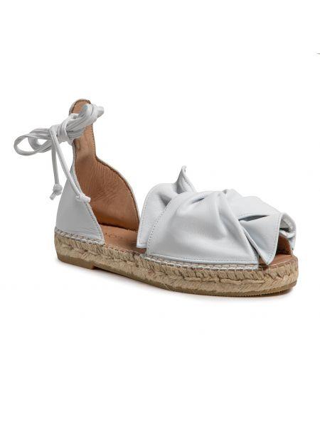 Sandały espadryle - białe Eva Longoria