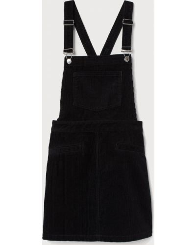 Черный джинсовый сарафан H&m