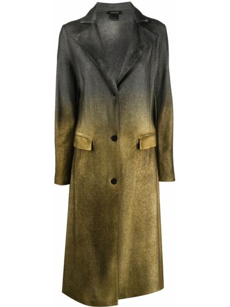 Однобортное шерстяное серое пальто классическое на пуговицах Avant Toi