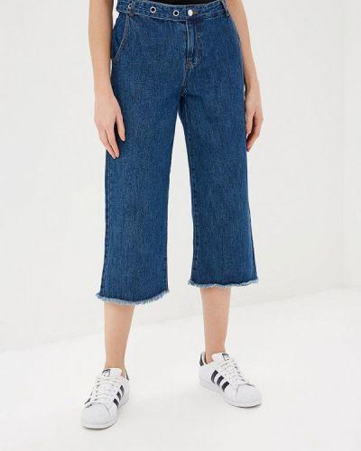 Широкие джинсы расклешенные синие Only