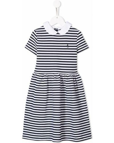 Платье с рукавами в полоску на молнии Ralph Lauren Kids