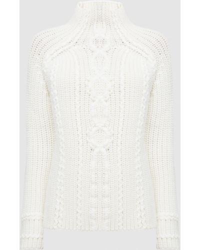 Бежевый шерстяной свитер Ermanno Scervino