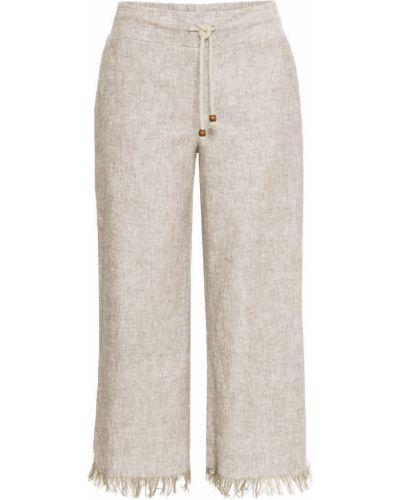 Свободные брюки бежевый Bonprix