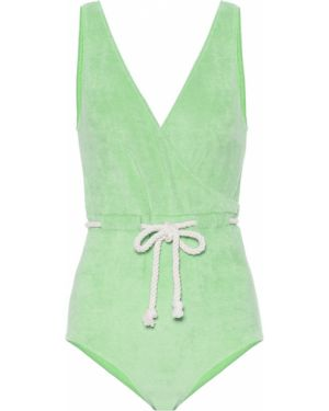 Хлопковый купальник - зеленый Lisa Marie Fernandez