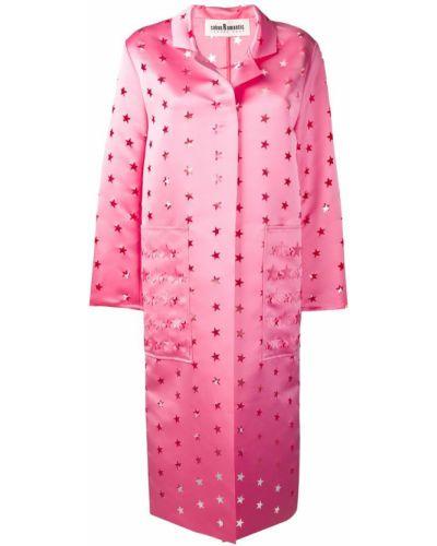 Пальто розовое с воротником Caban Romantic