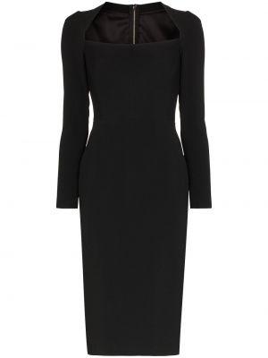 Вечернее платье миди на молнии Dolce & Gabbana