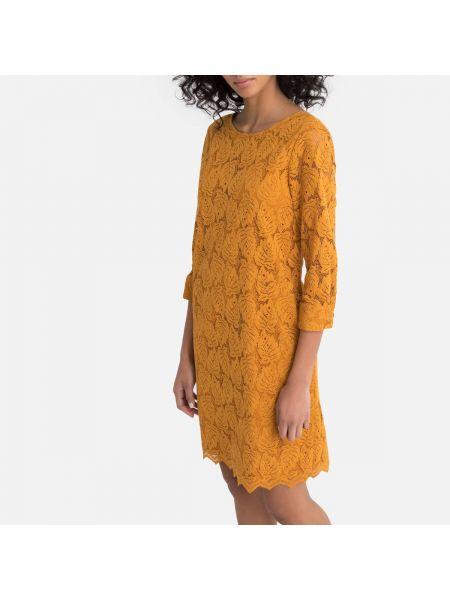 Вечернее платье на пуговицах прямое La Redoute