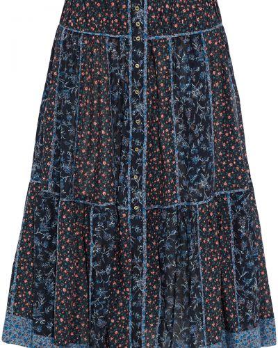 Юбка миди с карманами - синяя Ulla Johnson