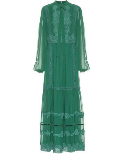 Платье макси шифоновое шелковое Costarellos