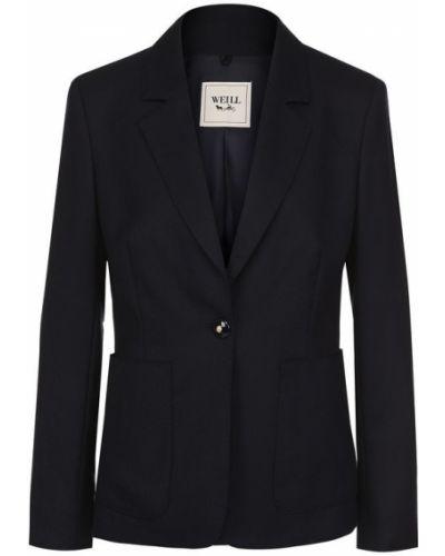 Пиджак приталенный однобортный Weill