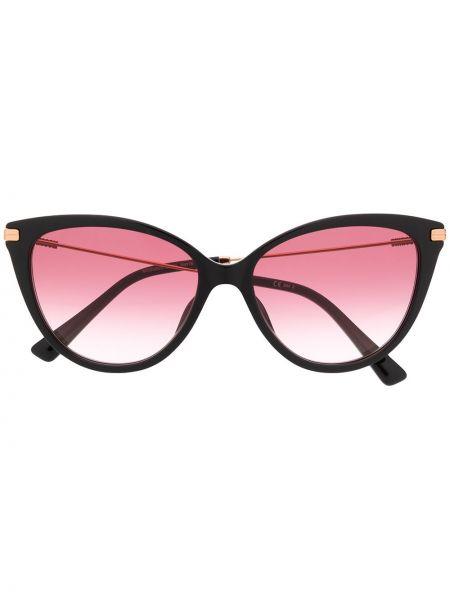Прямые муслиновые черные солнцезащитные очки Moschino Eyewear