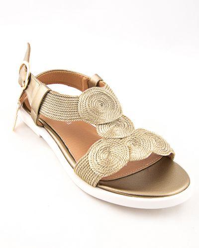Туфли золотые из искусственной кожи Stefaniya Nina