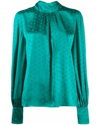 Блузка с длинным рукавом с бантом прямая Attico