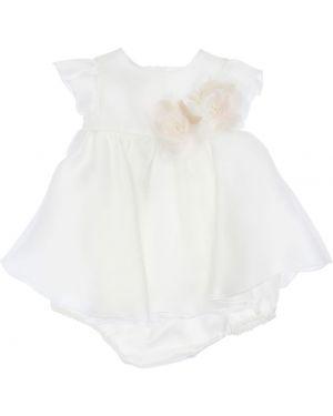 Шелковое платье с декольте с короткими рукавами La Stupenderia