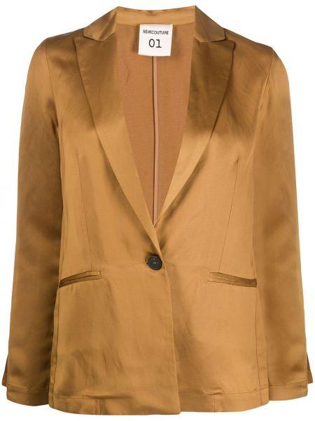 Куртка на пуговицах с карманами Semicouture