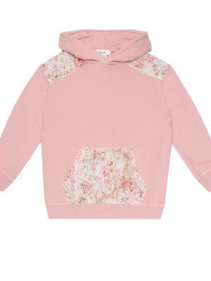 Bluza z kapturem z kapturem z kwiatowym nadrukiem Bonpoint