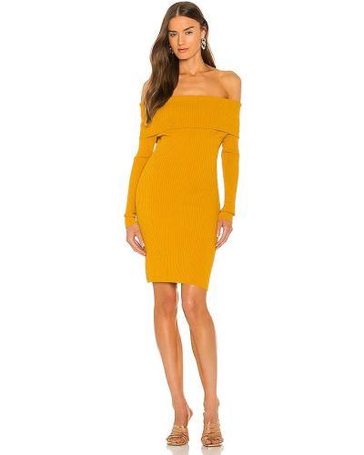 Платье с декольте - желтое Ronny Kobo