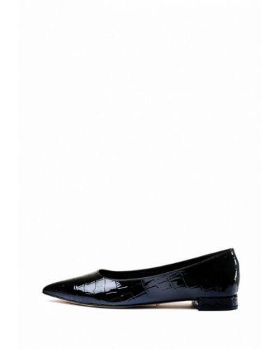 Черные кожаные балетки с острым носом Modus Vivendi