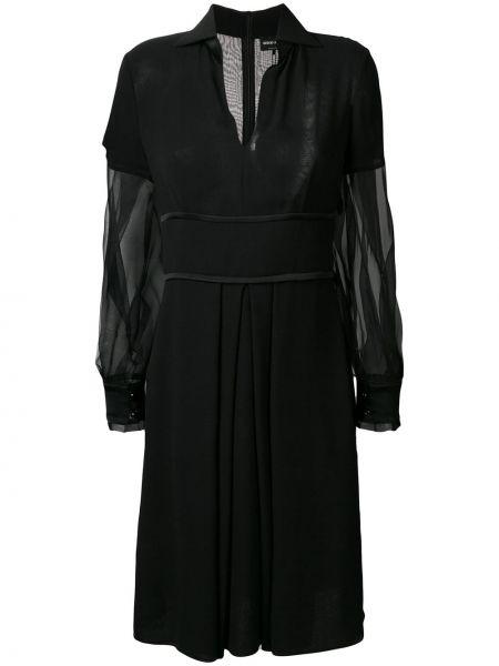 Платье макси с V-образным вырезом шелковое Giorgio Armani