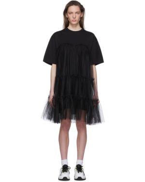 Платье платье-рубашка из фатина Msgm