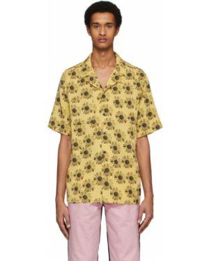 Koszula krótkie z krótkim rękawem dżinsowa szwedzki Tiger Of Sweden Jeans