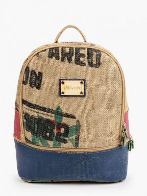 Текстильный бежевый городской рюкзак Lamania