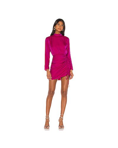 Плиссированное нейлоновое розовое платье мини на пуговицах Finders Keepers