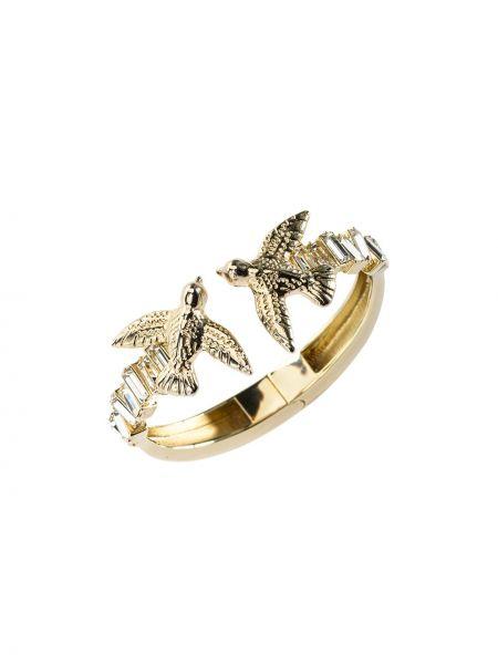 Золотистый браслет золотой на кнопках Pinko