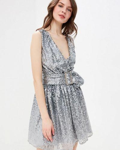 Вечернее платье весеннее серебряный Goddiva