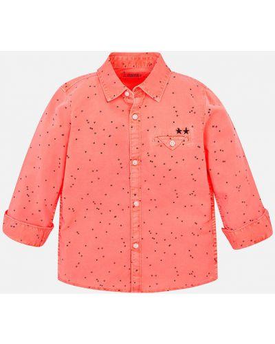 Рубашка льняной с узором Mayoral