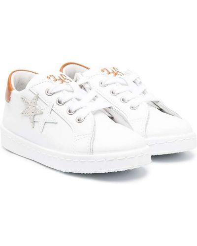 Ажурные кожаные коричневые кроссовки на шнурках 2 Star Kids