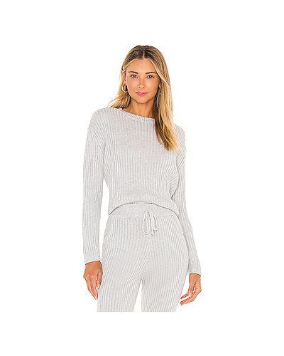 Серый акриловый вязаный свитер Majorelle