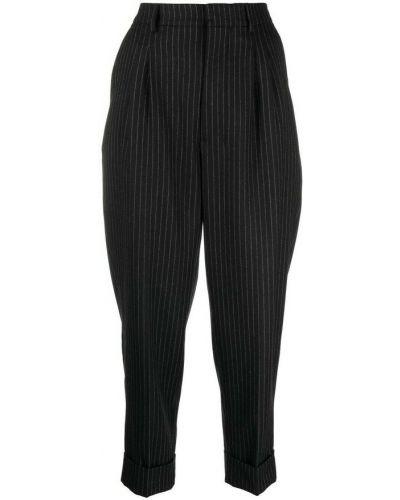 Czarne spodnie w paski Ami Paris