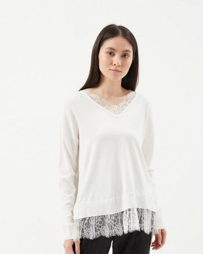 Белый пуловер 2018 Befree