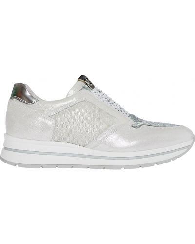 Кожаные кроссовки - серебряные Nero Giardini